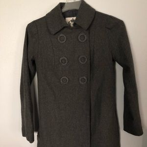BB Dakota Grey Double Breasted 3/4 length Pea Coat